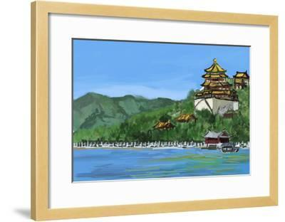 Cg Painting the Summer Palace-jim80-Framed Art Print