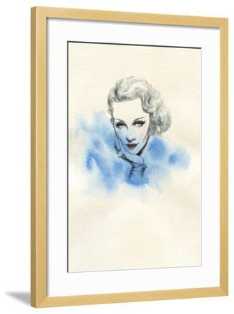 Beautiful Woman. Hand Painted Fashion Illustration-Anna Ismagilova-Framed Art Print