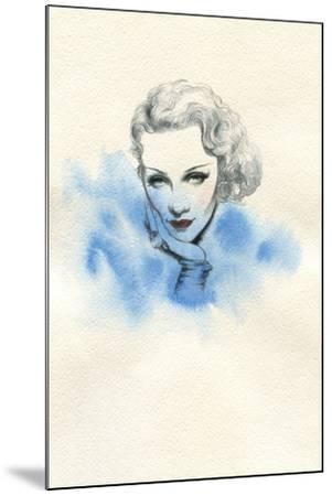 Beautiful Woman. Hand Painted Fashion Illustration-Anna Ismagilova-Mounted Art Print
