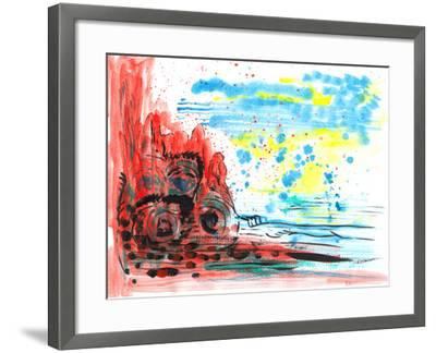 Hand Draw Abstract Paint-jim80-Framed Art Print