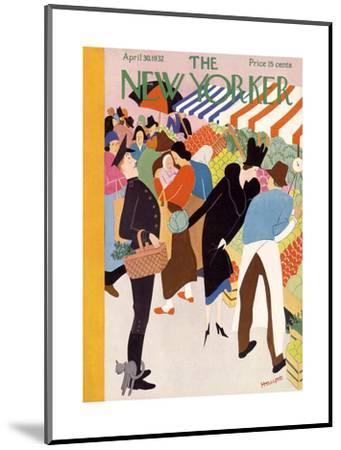 The New Yorker Cover - April 30, 1932-Theodore G. Haupt-Mounted Premium Giclee Print
