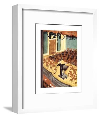 The New Yorker Cover - October 6, 1934-Charles Alston-Framed Premium Giclee Print