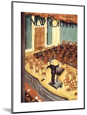 The New Yorker Cover - October 6, 1934-Charles Alston-Mounted Premium Giclee Print