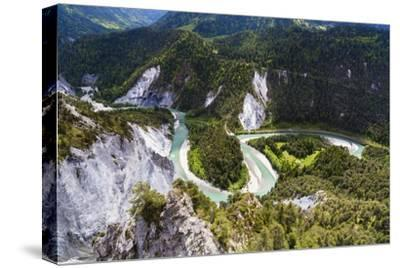 Canyon of the River Rhine-Frank Lukasseck-Stretched Canvas Print