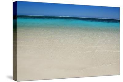 Tropical Lagoon Turquoise Bay-Frank Krahmer-Stretched Canvas Print