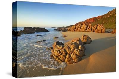 Rocky Coast at Injidup-Frank Krahmer-Stretched Canvas Print