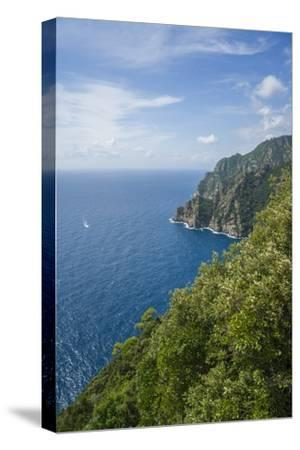 Landscape along the Trail to San Fruttuoso-Guido Cozzi-Stretched Canvas Print