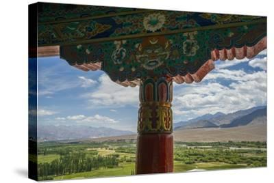 Spituk Monastery, near Leh, View of Indus Valley-Guido Cozzi-Stretched Canvas Print