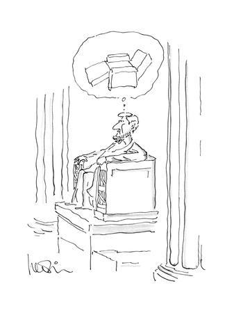 New Yorker Cartoon-Arnie Levin-Framed Premium Giclee Print