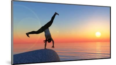 Exercise and Sunset-juanjo tugores-Mounted Art Print