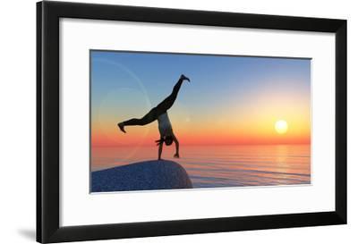 Exercise and Sunset-juanjo tugores-Framed Art Print