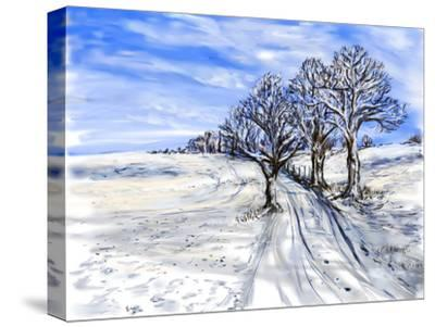 Cg Painting Forest-jim80-Stretched Canvas Print