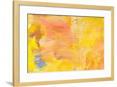 Abstract Painting Fragment-Suchota-Framed Art Print