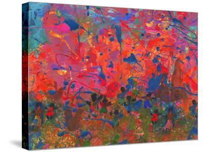 Child's Painting - Abstract Spots-Alexey Kuznetsov-Stretched Canvas Print