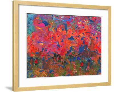Child's Painting - Abstract Spots-Alexey Kuznetsov-Framed Art Print