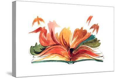 Book-okalinichenko-Stretched Canvas Print