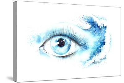 Eye-okalinichenko-Stretched Canvas Print