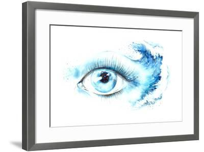 Eye-okalinichenko-Framed Art Print
