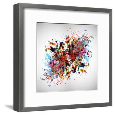 Bright Abstract Background-reznik_val-Framed Art Print