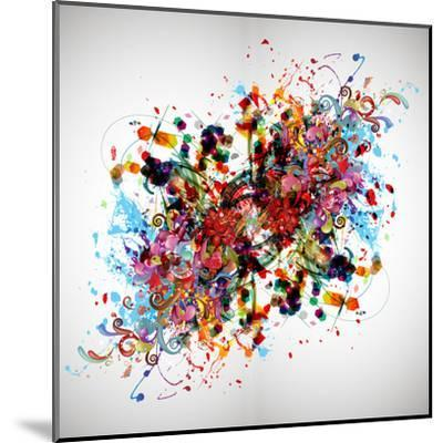 Bright Abstract Background-reznik_val-Mounted Art Print