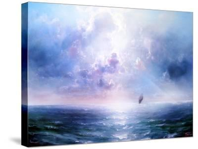 Seascape Open Sea- yakymenko-Stretched Canvas Print