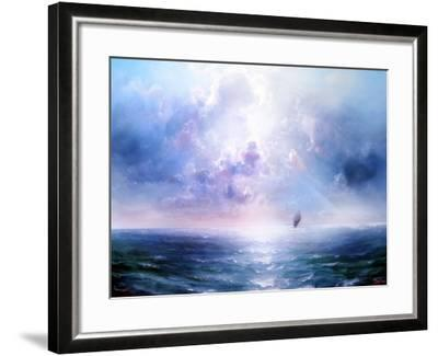 Seascape Open Sea- yakymenko-Framed Art Print