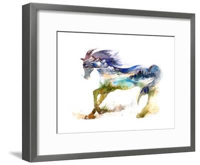 Horse-okalinichenko-Framed Premium Giclee Print