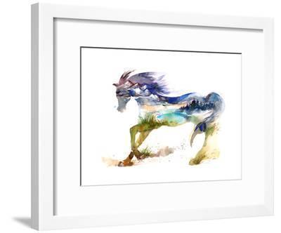 Horse-okalinichenko-Framed Art Print