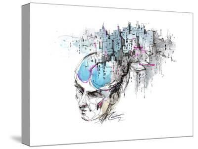 Man's Thoughts-okalinichenko-Stretched Canvas Print