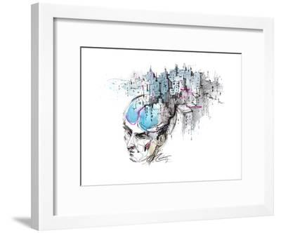 Man's Thoughts-okalinichenko-Framed Art Print