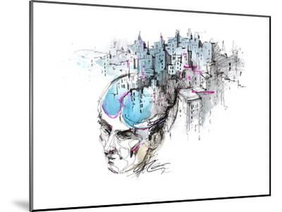 Man's Thoughts-okalinichenko-Mounted Art Print