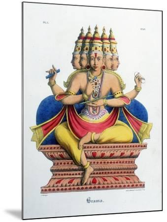 Brahma, First God of the Hindu Trinity (Trimurt), and Creator of the Universe, C19th Century-A Geringer-Mounted Giclee Print