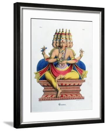 Brahma, First God of the Hindu Trinity (Trimurt), and Creator of the Universe, C19th Century-A Geringer-Framed Giclee Print