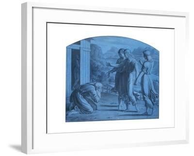The Hospitalite of Abraham, C1820-1857-Achille Deveria-Framed Giclee Print