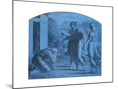 The Hospitalite of Abraham, C1820-1857-Achille Deveria-Mounted Giclee Print