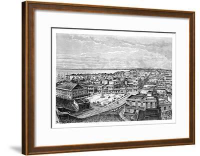 General View of San Juan Bautista, Puerto Rico, C1890-A Kohl-Framed Giclee Print