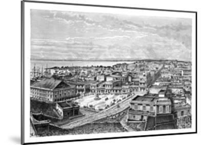 General View of San Juan Bautista, Puerto Rico, C1890-A Kohl-Mounted Giclee Print