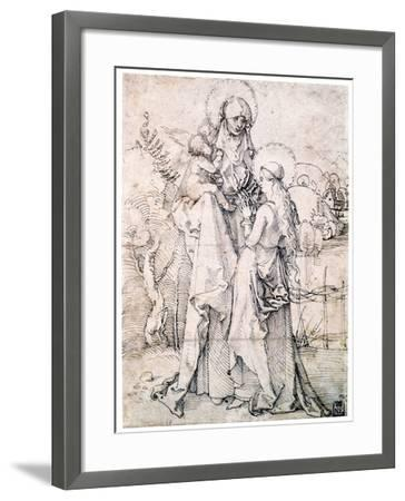 Saint Anne with Child and Virgin Mary, C1500-Albrecht Durer-Framed Giclee Print