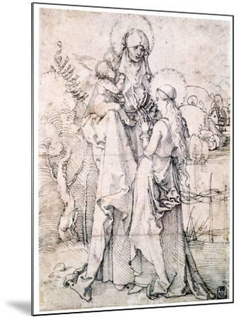 Saint Anne with Child and Virgin Mary, C1500-Albrecht Durer-Mounted Giclee Print