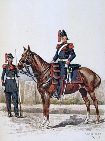 Parisian Republican Guard, 16 May 1848 - 1 Febuary 1849-A Lemercier-Framed Giclee Print