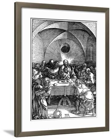 The Last Supper from the 'Great Passion' Series, C1510-Albrecht Durer-Framed Giclee Print
