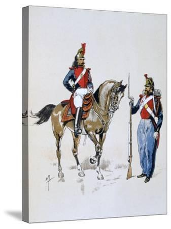 Paris Guard, 11 December 1852 - 10 September 1870-A Lemercier-Stretched Canvas Print