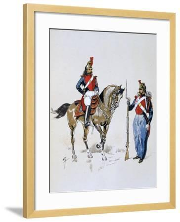 Paris Guard, 11 December 1852 - 10 September 1870-A Lemercier-Framed Giclee Print