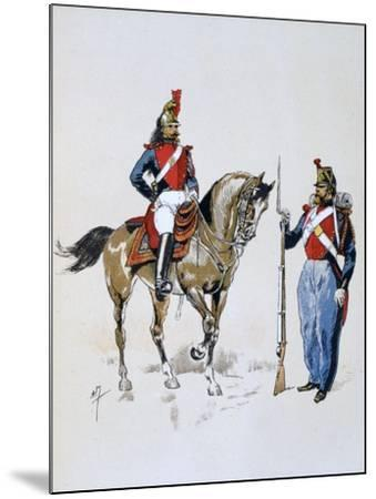 Paris Guard, 11 December 1852 - 10 September 1870-A Lemercier-Mounted Giclee Print