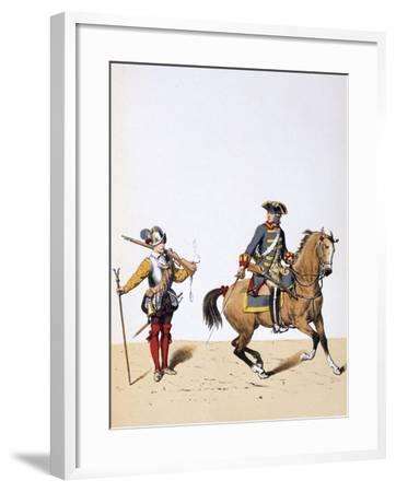 French Royal Troops, C1750-A Lemercier-Framed Giclee Print