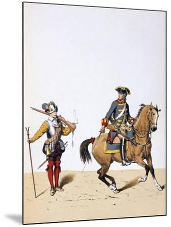 French Royal Troops, C1750-A Lemercier-Mounted Giclee Print