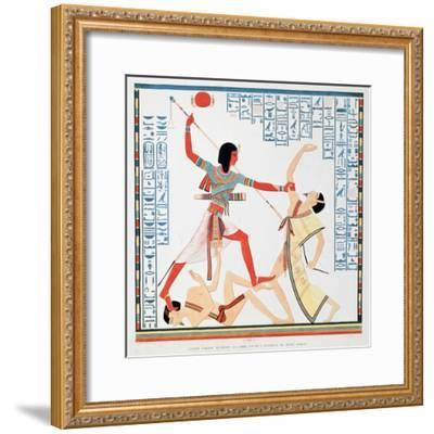 Second Scene on the Southern Wall of the Interior of the Great Temple at Abu Simbel, 1888-A Racinet-Framed Giclee Print