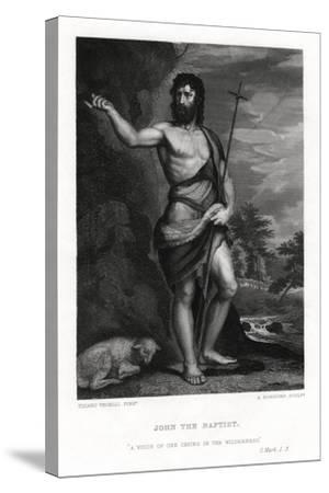 John the Baptist, 19th Century-A Rordorf-Stretched Canvas Print