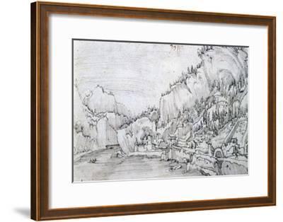 Sarmingstein on the Danube, 16th Century-Albrecht Altdorfer-Framed Giclee Print