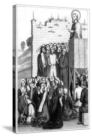 Christ Preaching, 15th Century-A Bisson-Stretched Canvas Print